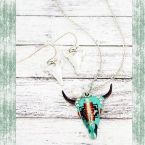 Jewelry - Sante Fe South Western Steer Head Necklace set
